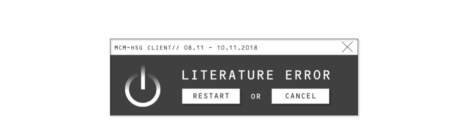 Literature Error: Restart or Cancel? Conference at the University of St. Gallen in November 2018